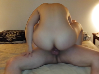 Shared Girlfriend Rides A Thick Cock Bareback