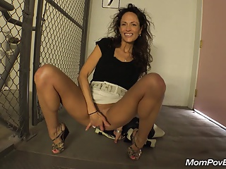 Swinger MILF Takes Cock On Public Stair Way