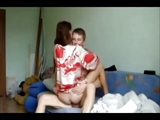 Amateur College Chick On Homemade Quicky