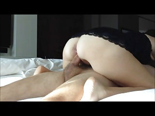 Thick Slutwife Rides Cock