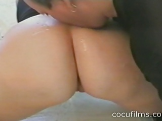 Cuckold Cleaning Her Wife's Ass
